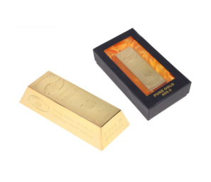 Зажигалка слиток золота, в подарочной коробке